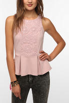 Urban Outfitters Staring at Stars Crochet Inset Peplum Tank Top