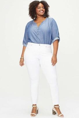 NYDJ Sheri Slim Pants in White Size 14W