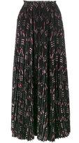 Valentino Love Blades pleated maxi skirt - women - Silk - 40