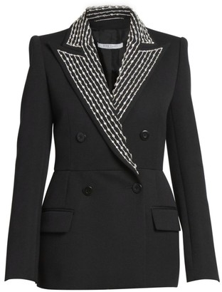 Givenchy Embellished Couture Tailored Wool-Blend Jacket