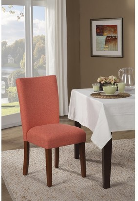 HomePop Mango Coral Textured Parson Chair