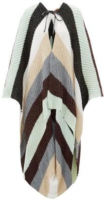 Missoni Striped Oversized Wool-blend Cape - Womens - Blue