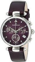 Claude Bernard Women's 'Diamond Collection' Swiss Quartz Stainless Steel and Leather Dress Watch, Color:Purple (Model: 10215 3 VIODN)