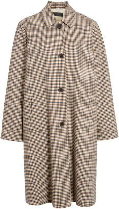 Nili Lotan Watson Plaid Duster Coat