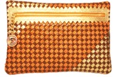 Cashhimi Colorado Python & Leather Clutch.