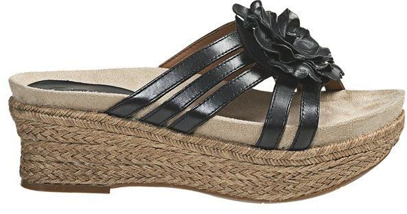 Earthies Valencia Wedge Sandals - Leather (For Women)
