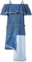 SteveJ & YoniP Steve J & Yoni P - patchwork ruffled dress - women - Cotton - XS