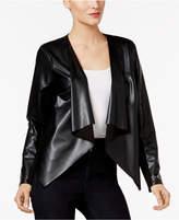 Thalia Sodi Lace-Back Faux-Leather Jacket, Created for Macy's