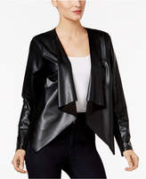 Thalia Sodi Lace-Back Faux-Leather Jacket, Only at Macy's