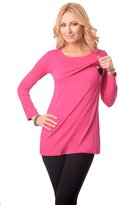 Purpless Maternity 2in1 Maternity & Nursing Scoop Neck Top Tunic 7021