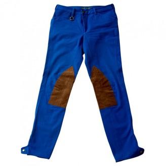 Ralph Lauren Blue Cotton Trousers