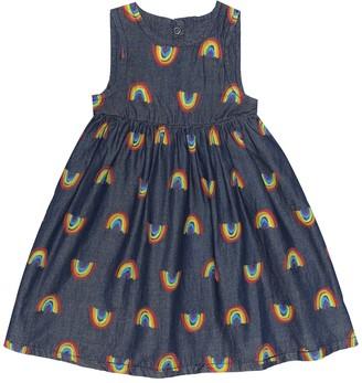 Stella Mccartney Kids Baby printed cotton-chambray dress