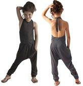 WensLTD Toddler Kids Baby Girls Summer Strap Romper Jumpsuit Harem Pants (7T, Gray)