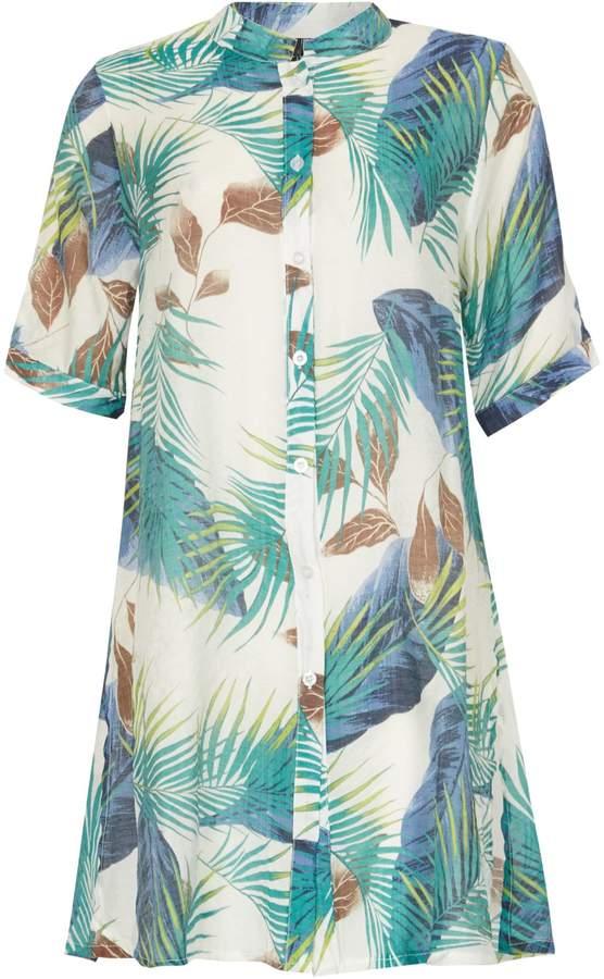 Izabel London Tropical Print Blouse
