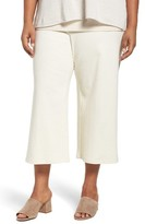 Eileen Fisher Plus Size Women's Knit Wide Leg Crop Pants