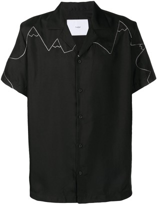 Goodfight Stitch-Embellished Bowling Shirt