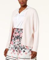 Charter Club Plus Size Textured Cardigan, Only at Macy's