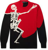 Alexander Mcqueen - Skeleton-intarsia Wool And Cashmere-blend Sweater