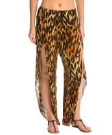 Indah Val Printed Petal Split Drawstring Cover Up Pant 8132280