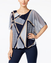 Alfani Printed Blouson Top, Only at Macy's