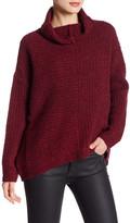 Eileen Fisher Funnel Neck Wool Blend Knit Sweater