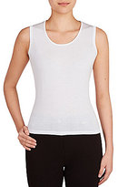 Allison Daley Petites Solid Scoop Neck Shell