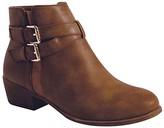 Top Moda Women's Casual boots TAN - Tan Cross-Strap Chase Bootie - Women