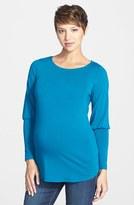 Maternal America Women's Drape Back Maternity Top