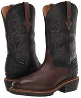 Lucchese Welted Western 12 Work Boot Waterproof Non-Safety Toe (Mocha/Black) Men's Boots