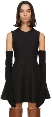 Valentino Black Wool and Cashmere Long Sleeved Gloves