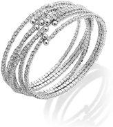 ABS by Allen Schwartz Silver-Tone Set Crystal Cuff Bracelet Set