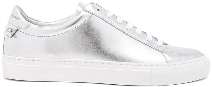 Givenchy Metallic Leather Urban Tie Knot Sneakers