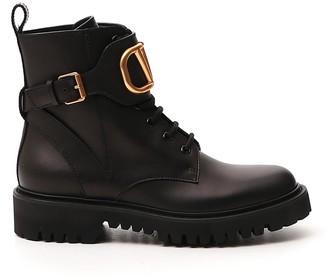 Valentino VLogo Signature Combat Boots