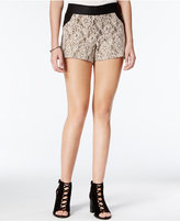 Be Bop Juniors' Lace-Paneled Shorts