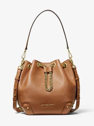 MICHAEL Michael Kors Alanis Medium Pebbled Leather Bucket Bag