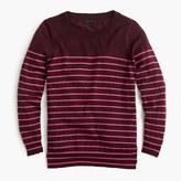 J.Crew Tippi sweater in metallic stripe
