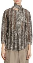 Nina Ricci Silk Leopard-Print Blouse