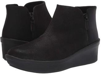 Clarks Step Rose Up (Black Textile) Women's Boots