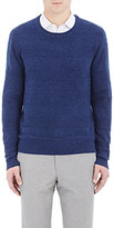 Barneys New York MEN'S TEXTURED-STRIPE SWEATER