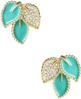 Amrita Singh Women's Austrian Crystal Leaf Stud Earrings