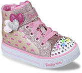 Skechers Twinkle Toes Shuffles Cutie Kicks Toddler Light-Up High-Top Sneaker - Girl's