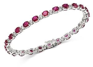 Bloomingdale's Ruby & Diamond Tennis Bracelet in 14K White Gold - 100% Exclusive