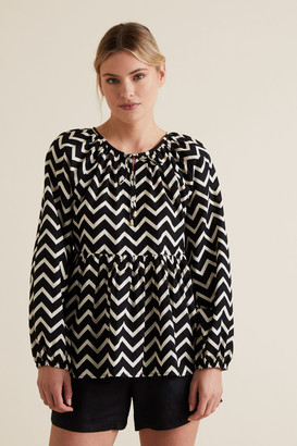 Seed Heritage Blouson Zig Zag Cover Up