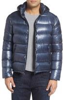 Herno Men's 7 Dernier Water Resistant Down Puffer Jacket With Detachable Hood