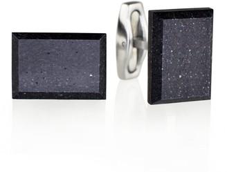 Gravelli Falcon Concrete & Surgical Steel Cufflinks Anthracite