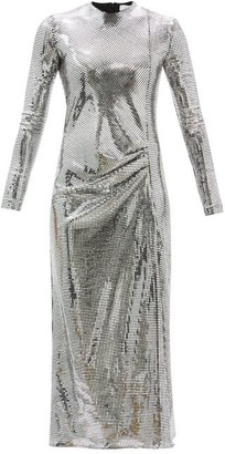 Racil Camille Gathered Mirrored Metallic-jersey Dress - Silver