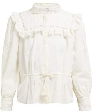 Sea Poppy Pintucked Linen-blend Blouse - Womens - Cream
