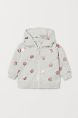H&M Hooded Sweatshirt Jacket - Gray