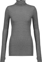 Enza Costa Mélange Stretch-Jersey Turtleneck Top