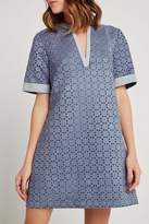 BCBGeneration Laser-Cut A-Line Dress